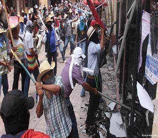 Mexico teachers on rampage, storm offices of party political parties over education reforms
