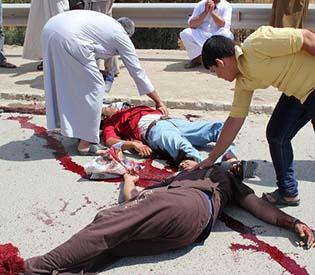 human rights observers - Deadliest attacks on Sunnis kill at least 76 in Iraq arab uprising 1