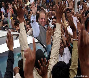 human rights observers Nawaz sharif claims victory in pakistan as polls indicate lead intl.news