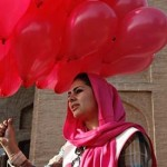 Pink balloons bring smiles in war-weary Afghan capital