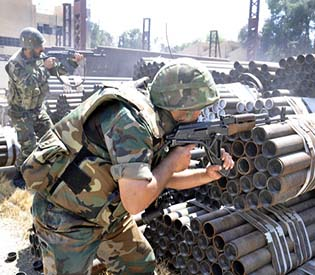 human rights observers - Syrian troops gain more ground around Qusair, tv reporter killed arab uprising 1