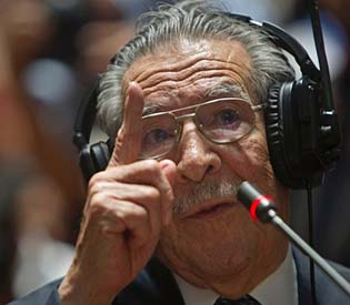 human rights observers - ex-dictator denies he ordered guatemala genocide