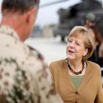 German Chancellor Angela Merkel on visit to Afghanistan
