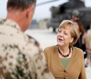 human rights observers german chancellor merkal on a visit to afghanistan intl. news 1