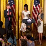 Michelle Obama, Prince Harry honors military mothers at tea