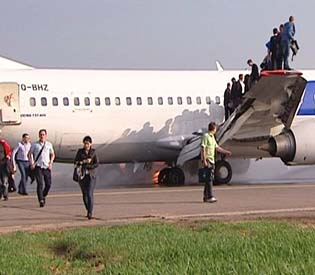 human rights observers - plane carryig 130 people catches fire on landing in moscow eu crisis 1