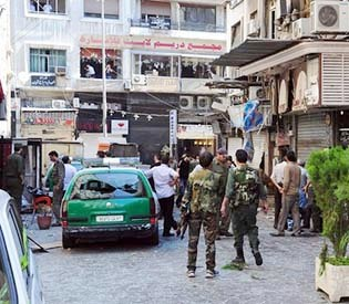 Human rights observers - Suicide Bombers attack on Syrian capital, killed atleast 14 people arab uprising1