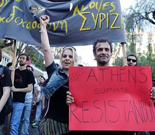 human rights observers - Athens Rally to support greece turkey solidarity eu crisis1