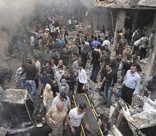 human rights observers - Syrian jets target Qusayr, rebels attack on damascus kill 9 arab uprising1