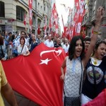 Labour unions, political opponents protest to support Turkey activists