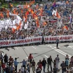 Anti-Putin protesters march in Moscow decrying president's rule