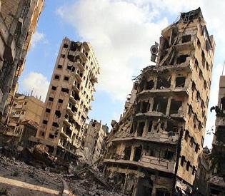 hromedia Syrian central prison shelled part of aleppo battle arab uprisig1