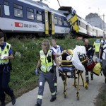Two Swiss trains collide, 44 injured, driver feared dead