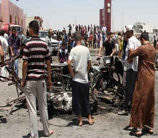human rights Suicide bomber targets mosque in Baghdad killing at least 15 worshipers arab uprising1