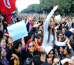 hromedia Thousands gather as Tunisia faces mass weekend protests intl. news1