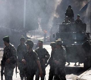 hromedia Lebanese security forces regain control in southern Beirut arab uprising2