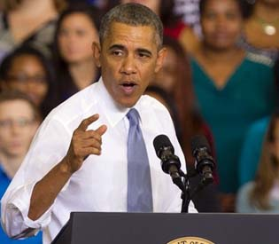 Obama says Americans 'completely fed up' with Washington