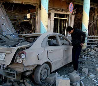 hromedia - Syria car bomb kills 30, separate blast rocks capital