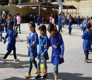 hromedia Syrian children return to school amid war arab uprising2