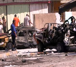 hromedia - Wave of car bombs across Baghdad kills 51