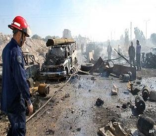 hromedia Deadly truck bomb kills over 30 in Syria arab uprising2