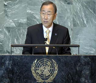 hromedia  - UN chief Ban says world must tackle water waste