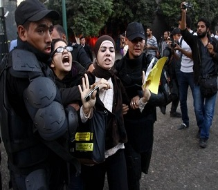 hromedia 21 women in Egypt get 11 years in prison for holding protest arab uprisin2