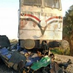 26 killed, 28 injured as train crashes into mini-bus, truck in Egypt