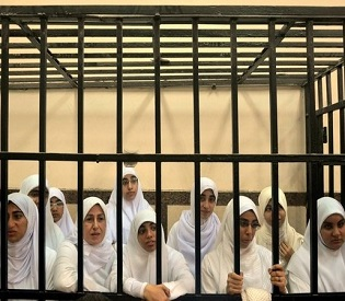 hromedia Egypt court hands heavy prison sentences to Islamist women protesters arab uprising2