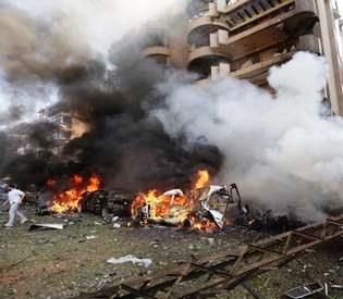 hromedia - Explosions near Iranian Embassy in Beirut kill 20