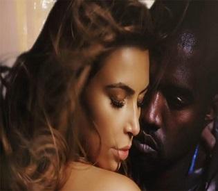 hromedia Kim Kardashian Goes Topless in New Kanye Video intl. news2