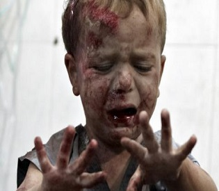 hromedia Mortar fire kills 9 children at Damascus school arab uprising2