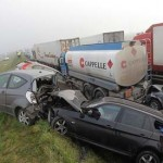 Belgium: 100 cars crash in fog; at least 1 dead