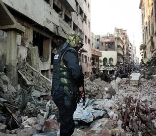 hromedia Powerful bombing at Egypt police station kills 13 arab uprising2