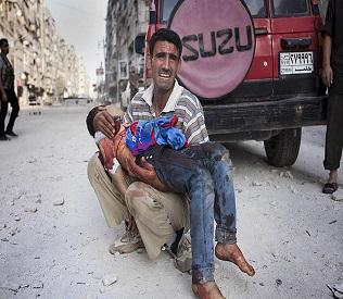 hromedia Syrian planes pound Aleppo for fourth straight day arab uprising2