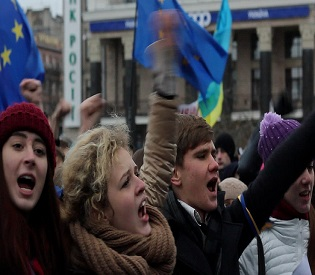 hromedia Ukrainian Riot Police Withdraw After Overnight Move on Protesters  eu news2