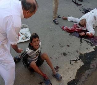 hromedia Clashes, bombings kill 30 people in Iraq arab uprising2