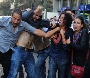 hromedia Nine protesters dead in clashes on anniversary of Egypt uprising arab uprising2