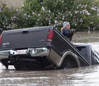 in High River, Alta. on June 20, 2013 after the Highwood River overflowed its banks. THE CANADIAN PRESS/Jordan Verlage