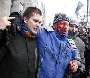 hromedia Ukraine President Pledges Government Reshuffle ahead of more violence eu news2