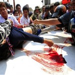 Girl killed, dozens hurt as gunmen attack on Thai protest