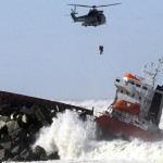 Spanish cargo ship breaks in two off French coast