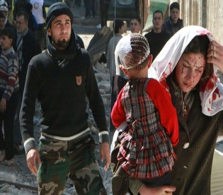 hromedia 7 killed, several others injured in new spate of attacks in Syria arab uprising2