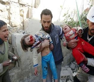 hromedia Syrian regime airstrikes kill 13 in northwest town arab uprising2