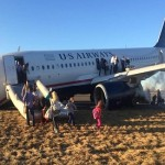 US Jet aborts takeoff after nose gear collapses at Philadelphia airport