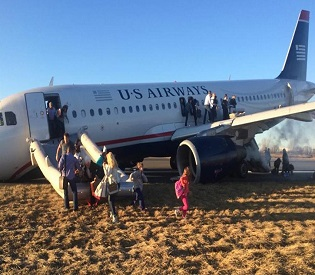 hromedia US Jet aborts takeoff after nose gear collapses at Philadelphia airport intl. news5