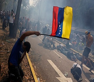 hromedia Venezuelan leader targets protesters using excessive force intl. news2