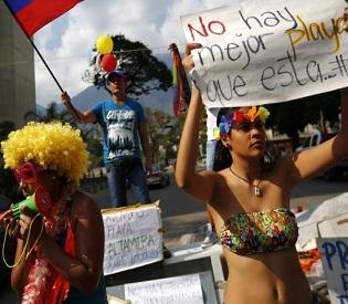 hromedia Venezuelan protesters keep up momentum despite 'carnival season' intl. news2