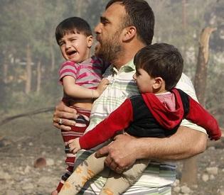 hromedia Car bomb, mortar shells in Syria's 2 major cities kill at least 50 arab uprising4