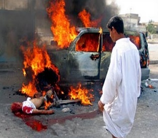 hromedia Iraq 34 killed, 45wounded as car bombs explode in Baghdad arab uprising3